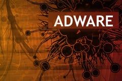 Alarma de seguridad de Adware Imagenes de archivo