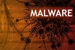 Alarma de seguridad de Malware Fotos de archivo libres de regalías