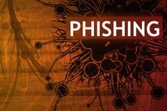 Alarma de seguridad de Phishing Fotografía de archivo libre de regalías
