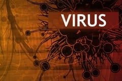 Alarma de seguridad del virus Imagenes de archivo