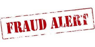 Alarma del fraude ilustración del vector