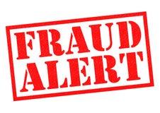Alarma del fraude stock de ilustración