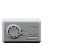 Alarma del monóxido de carbono en el fondo blanco foto de archivo libre de regalías