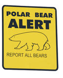 Alarma del oso polar Fotografía de archivo