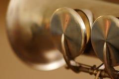 Alarma del saxofón del soprano Imagen de archivo