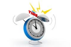 Alarma del tiempo del impuesto Fotografía de archivo libre de regalías
