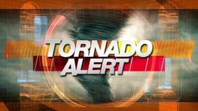 Alarma del tornado - gráficos del título ilustración del vector