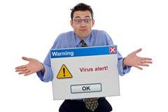 Alarma del virus Imágenes de archivo libres de regalías