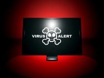 Alarma del virus stock de ilustración