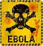Alarma del virus de Ebola Fotografía de archivo