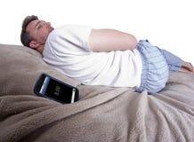 Alarma el dormitar Imagen de archivo libre de regalías