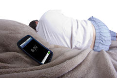 Alarma el dormitar Fotografía de archivo libre de regalías