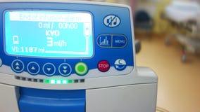 alarma en una máquina de la infusión almacen de metraje de vídeo