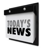 Alarma importante de las noticias del calendario de la información de hoy de la actualización ilustración del vector