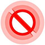 Alarma prohibida general de la muestra Fotos de archivo
