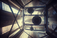 Alarmas de iglesia en una torre Fotos de archivo