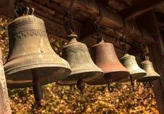 Alarmas de iglesia viejas Imágenes de archivo libres de regalías