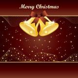 Alarmas de la Navidad del oro en marrón Fotografía de archivo