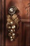 Alarmas de trineo de la decoración del día de fiesta de la Navidad Foto de archivo libre de regalías