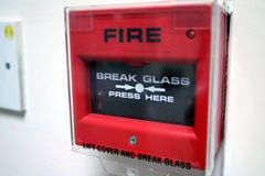 alarmbrand Arkivfoto