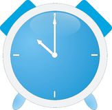 Alarme bleue (horloge) Images libres de droits