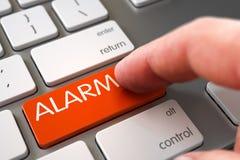 Alarme - conceito do teclado do portátil 3d Imagens de Stock