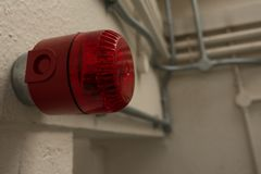 Alarme d'avertissement dans la prison de HMP Shrewsbury, Dana Photographie stock