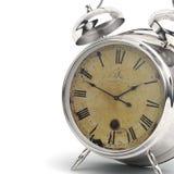 Alarme d'horloge de Chrome Photographie stock libre de droits