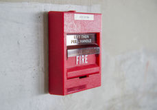Alarme d'incendie image stock