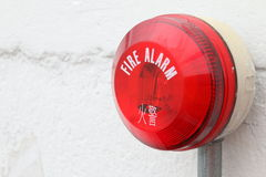 Alarme d'incendie Photos libres de droits