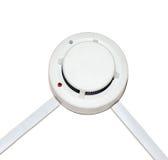 Alarme d'incendie de détecteur sur un fond blanc Images libres de droits