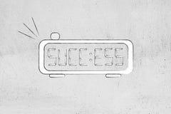 Alarme de Digital avec le succès de mot au lieu du temps Images libres de droits