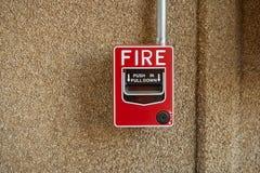 Alarme de incêndio foto de stock