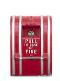 Alarme de incêndio isolado fotos de stock royalty free