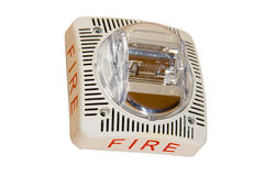 Alarme de incêndio no fundo branco imagem de stock royalty free