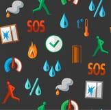 Alarme, fundo, sem emenda, detectores de fogo, umidade, movimento, temperatura, cor, cinzenta Fotos de Stock