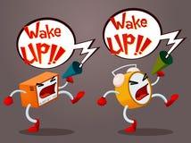 Alarme gritando ilustração royalty free