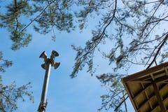 Alarme os oradores, mar em Rayong, Tailândia Imagens de Stock