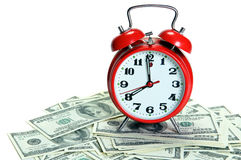 Alarmer on money Royalty Free Stock Photo