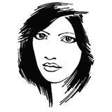 Alarmerad flicka Royaltyfri Fotografi