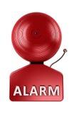 Alarmglocke über Weiß Stockfoto