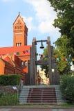 Alarmklok bij de Kerk van St Simon en St.Helena in Minsk Royalty-vrije Stock Fotografie