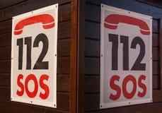 112 alarmnummer royalty-vrije stock foto's