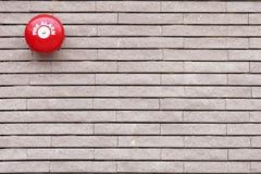 alarmowa cegły ogienia czerwieni ściana Zdjęcie Stock