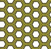Alarmowa taśma, abstrakcjonistyczny geometryczny bezszwowy wzór. Royalty Ilustracja