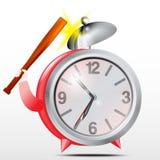 Alarmowy clock.Red.Vector Zdjęcie Royalty Free