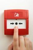 alarmowy przerwy ogienia szkło Obraz Stock
