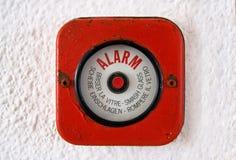 alarmowy przerwy ogienia szkło stary Obraz Stock