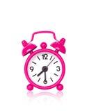 alarmowy tła zegaru menchii biel Obraz Stock
