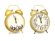 Alarms. With arrows on white background Stock Images